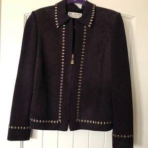 St. John sued/knit jacket